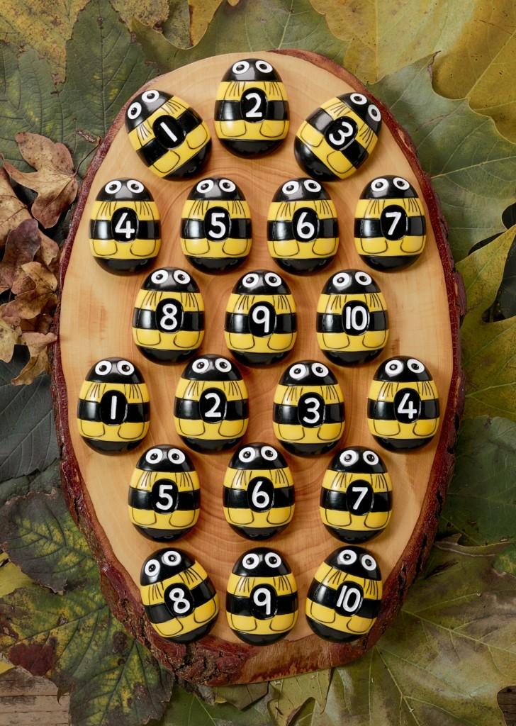 Honey Bee Number Stones