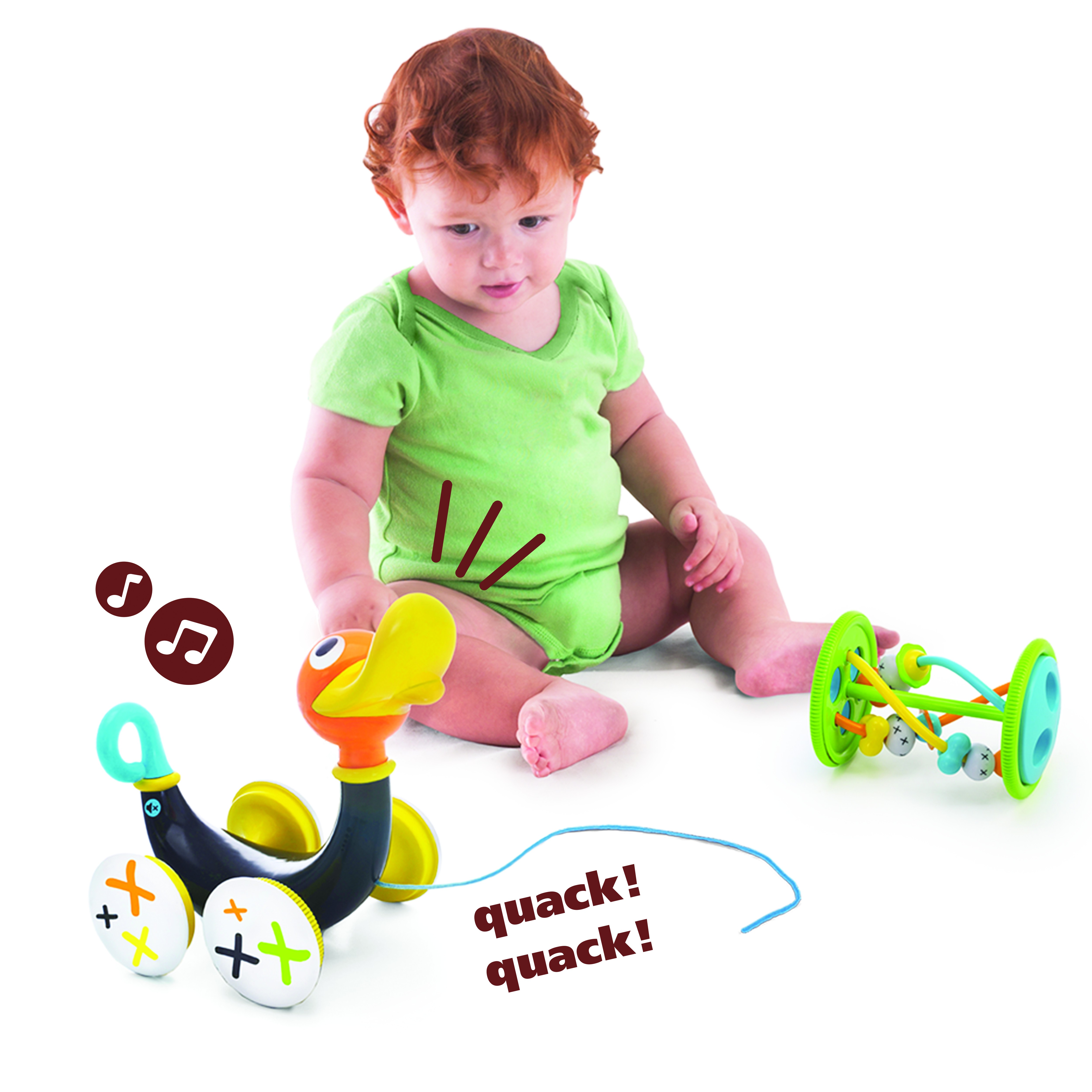Pull Along Whistling Duck - Pull, Push & Go - Infant & Toddlers - Toys