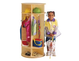 Revolving 5 Section Coat Locker