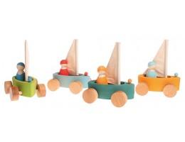Set of 4 little Land Yachts