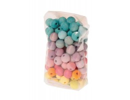 Wooden Pastel Beads