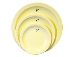 "Melamine Plate 7"" Yellow"