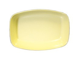 "Melamine Serving Platter 10"" x 7 1/2"" x 2"" Yellow"