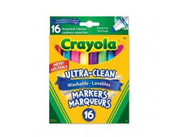Ultra Clean Washable Broad Line Markers 16ct