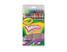 Twistable Coloured Pencils 24ct