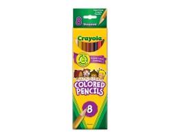 8 Multicultural Coloured Pencils