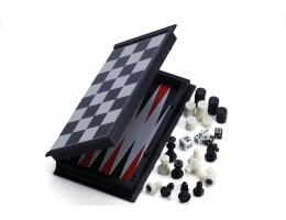 3-in-1 Backgammon/chess/Checkers