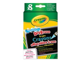 Dry Erase Washable Crayons - Brights 8ct