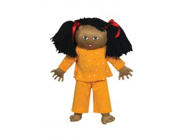 Down Syndrome Doll - Lt Brown Girl
