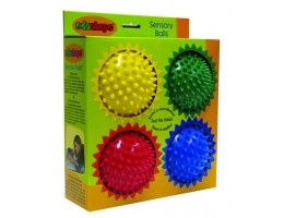"4"" Small Opaque Sensory Ball 4 Pack"