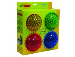 "4"" Small See-Me Sensory 4 Pack Ball"