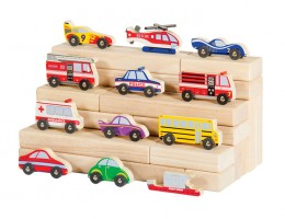 Wooden Vehicle Collection (12/set)