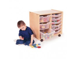 Toddler Tray Storage: Two Section With Trays
