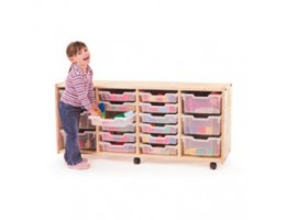Toddler Tray Storage: Four Section With Trays