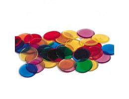 Transparent Color Counting Chips, Set of 250