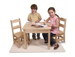 Wooden Table and Chair 3 piece set