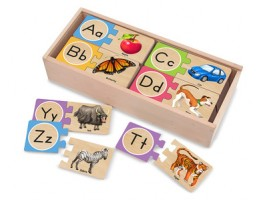 Wooden Alphabet Puzzle Cards