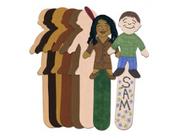 Skin Tone Kids Craft Sticks
