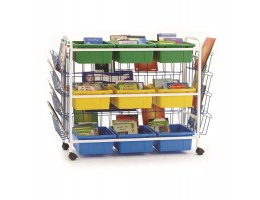 Deluxe Leveled Reading Book Browser Cart 9-1