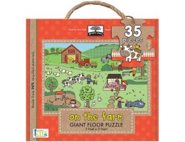 On the Farm Floor Puzzle- Recyled-Material