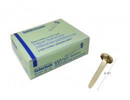 Paper Brass Fastners 100 pieces per/pkg