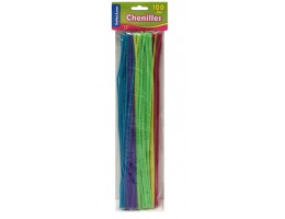 "Pipe Cleaners Assorted Colours 12"" 100 per/pkg"