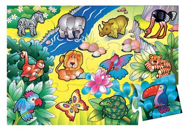 In The Jungle Floor Puzzle (24 pc)