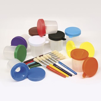 No Spill Paint Cup & Brush Set