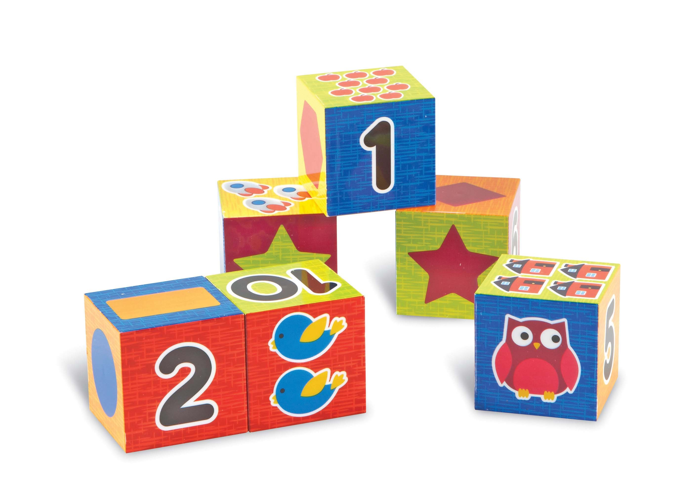 Number and Shape Puzzle Blocks
