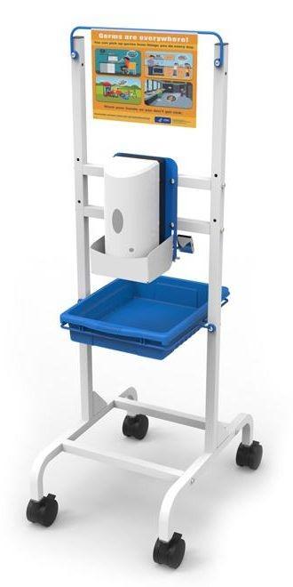 Single Student Hand Sanitizer Station - Base Model
