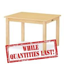 """Multi-Purpose Rectangle Table 30""""W x 24""""L"""