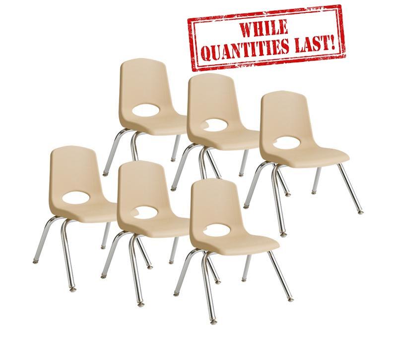 "10"" Stackable School Chair - Sand"