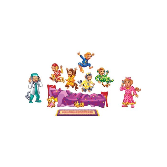 Five Monkeys Jumping on the Bed Bilingual Flannel Set