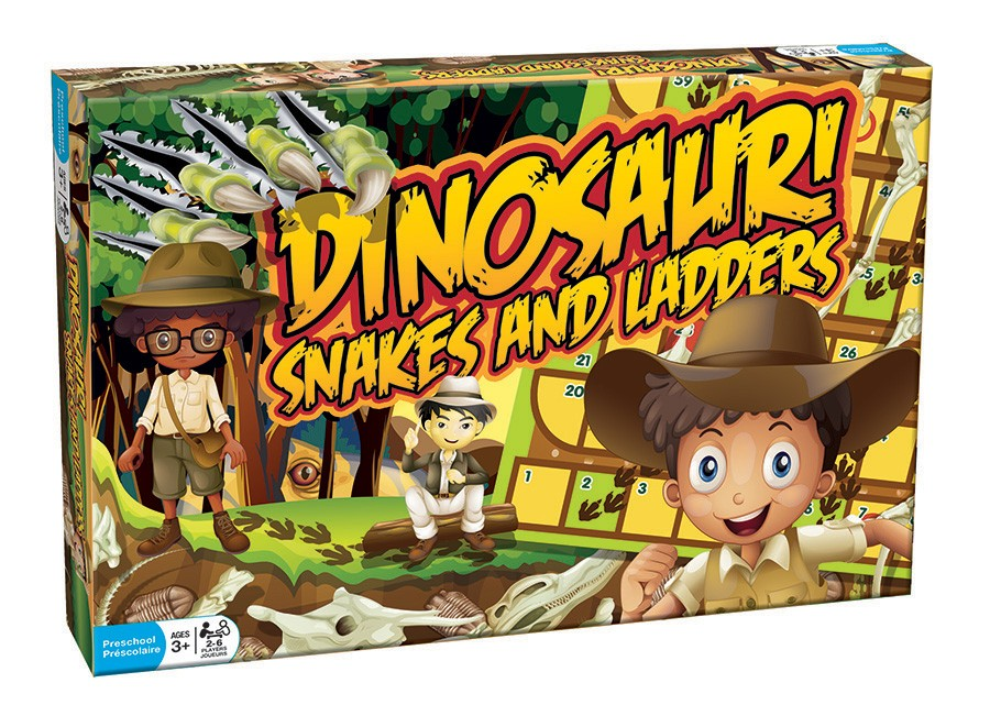 Dinosaur Snakes and Ladders - Classic Games - Games - Toys