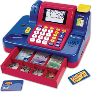 Teaching Cash Register w/Canadian Currency