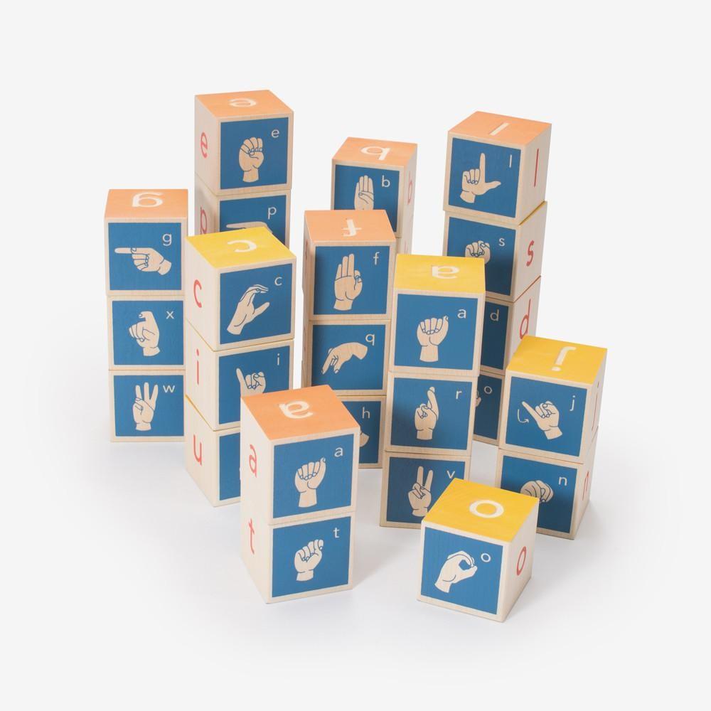 Sign Language Alphabet Blocks
