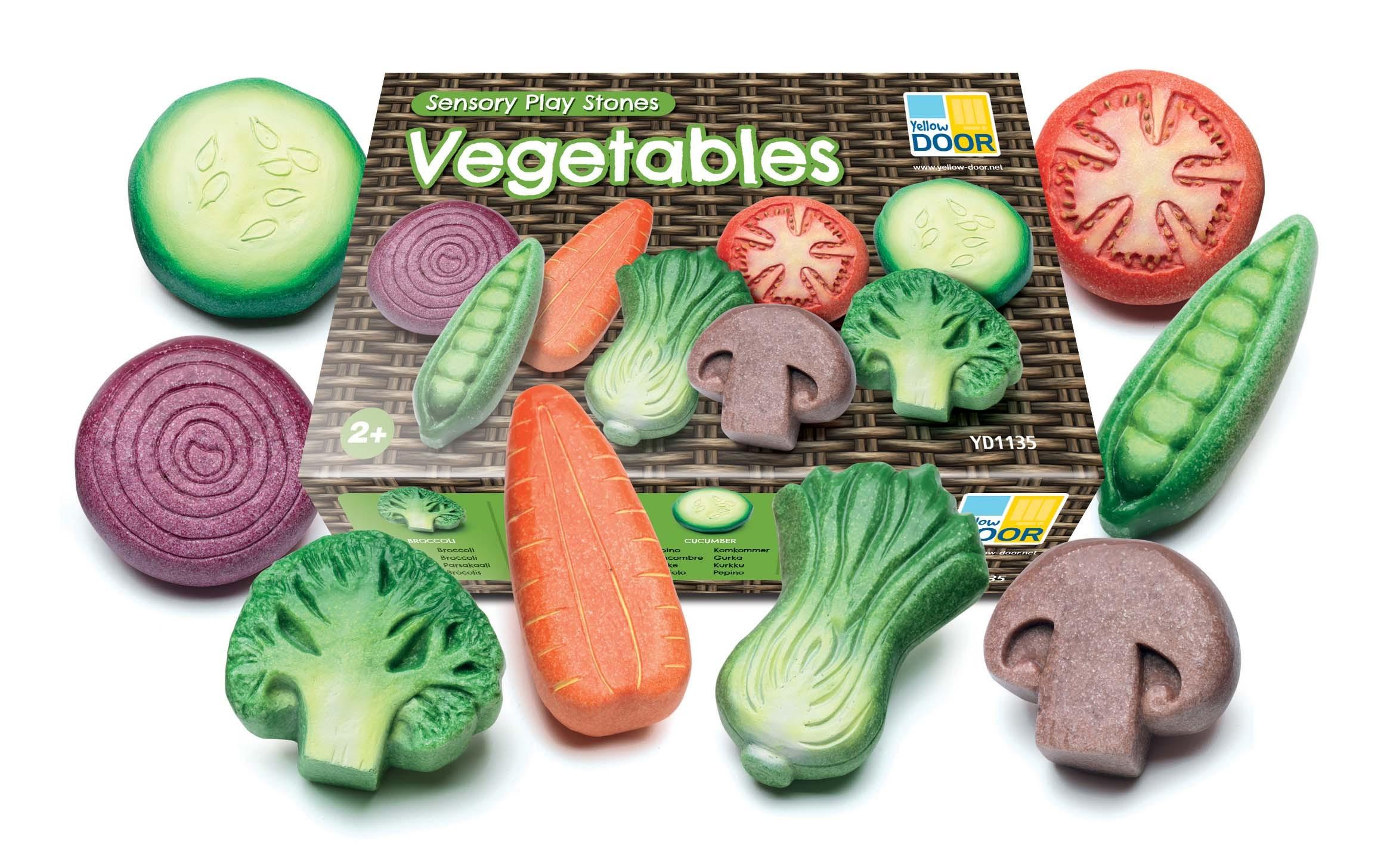 Vegetable Sensory Play Stones