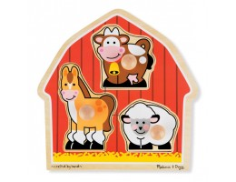 Jumbo Knob Puzzle Barnyard Animals