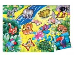 In The Jungle Floor Puzzle (24 pc)
