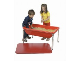Large Red Sensory Table