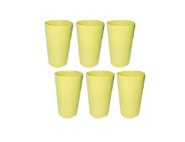 Melamine Tumbler Cup Adult Size 8OZ Yellow