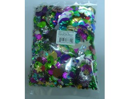 Sequins Shapes Assorted 250g