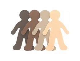 "Multicultural Foam People 6"""