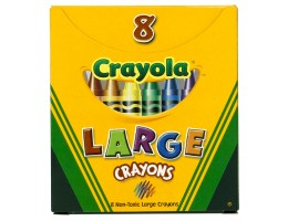 Large Crayons 8CT
