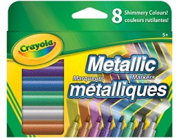 8 Metallic Markers Fine Line