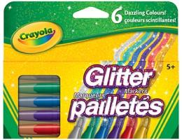 6 Glitter Markers