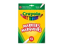 Classic Colour Fine Line Markers 12ct
