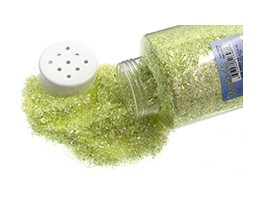 Glitter Flakes - Indescent Lime Green