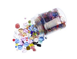 Acrylic Treasure Bead Assortment Jar