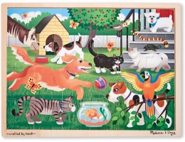Wooden Jigsaw Puzzle Pets at Play (24pc)